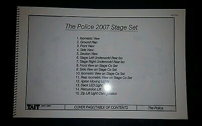 The Police Tour 2007 Approved Lighting And Stage Set Design Plans 1 Of 3 Sets
