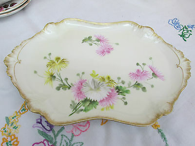 ANTIQUE LIMOGES FRENCH PORCELAIN VANITY TRAY ~ c1900
