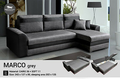-  Marco -  New Corner Sofa Bed, Sleep Function more than 4 seater