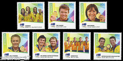 2012 Australian Olympic Gold Medallists - Set of 7 Stamps - MUH