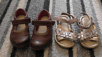 Clarks Girls Leather shoes 5F infant & sandals size 5