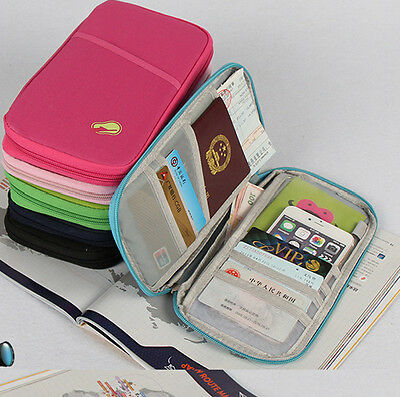 NEW Useful Passport and Travel Documents Holder Case Pouch Wallet