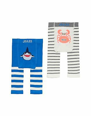 *BNWT* Baby Joules Boys Lively Leggings 2 Pack Coastal Shark Crab Striped Warm