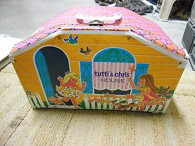 Vintage Mattel 1960's Barbie Tutti & Chris House With Dolls,clothing,accessories
