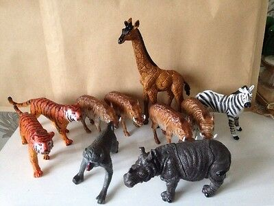 Plastic Zoo Animals (10 In Total)
