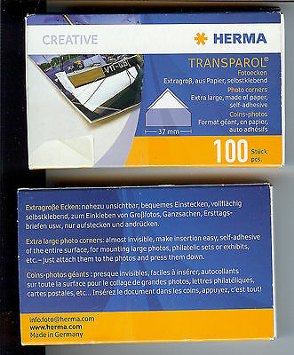 Herma Transparol Extra Large Photo Corners S/a Two Boxes 147 Corners Remain