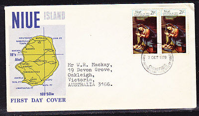 Niue 1970 Christmas  First Day Cover Addressed