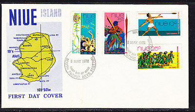Niue 1972 Festivals  First Day Cover - Unaddressed