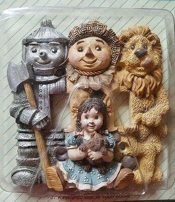 Hand Sculpted Wizard of Oz Double Toggle Light Switch Plate Cover Relief