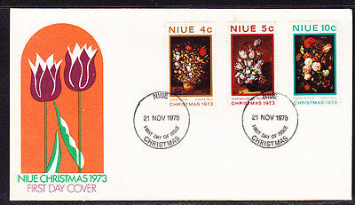Niue 1973 Christmas  First Day Cover - Unaddressed