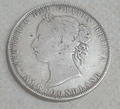 1898 Canada Newfoundland STERLING SILVER 50 Cents Coin – No Reserve - Lot#002