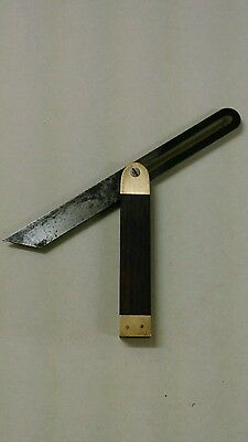 Sliding Bevel Rosewood And Brass