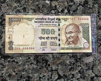 2013 Rs. 500 rupees India Telescope satellite Duvvuri Subbarao currency BankNote