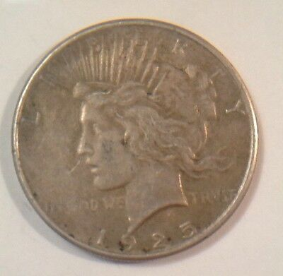 1925 US $1 One Dollar Peace Silver Coin