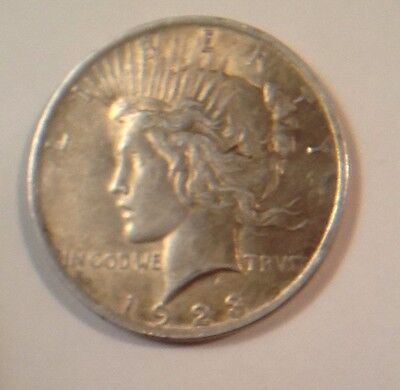 1923 US $1 One Dollar Peace Silver Coin