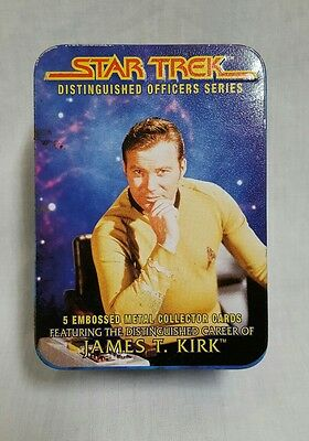 1997 Star Trek Distinguished Officers Series James T Kirk Metal Cards Set