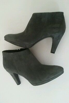 Women's Ecco Leather Suede Ankle Boots Size 40/9-9 1/2
