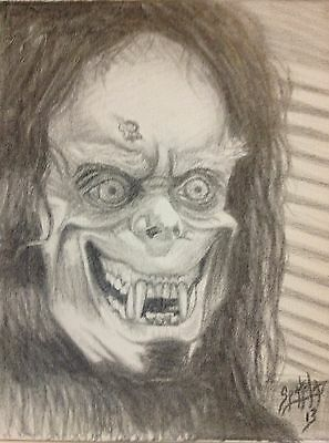 Eddie Quist Transformation from The Howling original art by Spatola