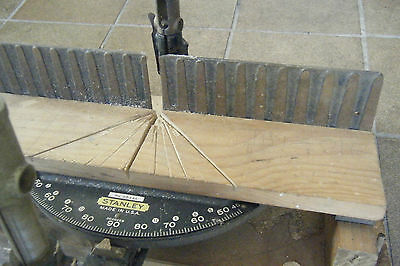 vintage / antique 1920's STANLEY MITER CUTTING BOX, No:  2244A.  Made in USA