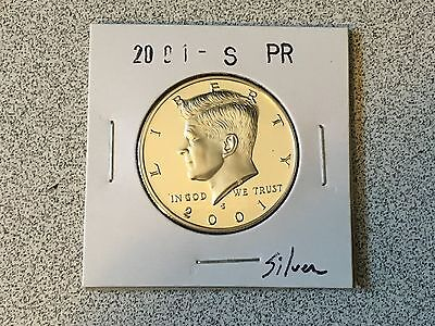 2001 S Silver Gem Proof Kennedy Half Dollar 90% Silver
