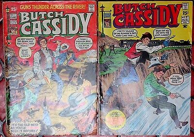 BUTCH CASSIDY #1,2 (VG+) 1971 Western Skywald Comics 52 Pages