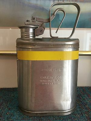 Eagle Mfg. Co. 1301 One Gallon Stainless Steel Safety Can, Used, Great Condition