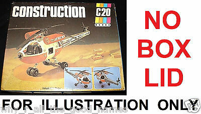 Vintage 1980's DDR CONSTRUCTO C20 Kit HELICOPTER Metal Construction Set & Extras