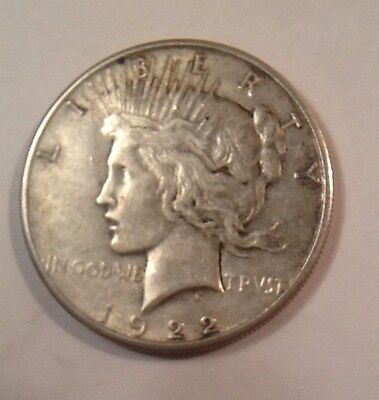 1922s US $1 One Dollar Peace Silver Coin
