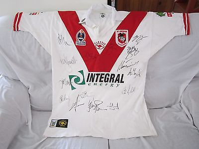 St George Illawarra Dragons Signed Jersey Circa 2003 Size 2Xl