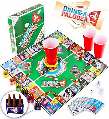 DRINK-A-PALOOZA Board Game: A mix of Old-School + New-School Drinking Games