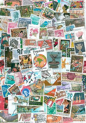World, Collection lot of 400 worldwide stamps, Off paper, mint, used #42