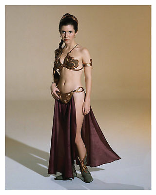 -- STAR WARS -- ( PRINCESS LEIA ) Carrie Fisher- 8x10 Glossy Photo -f-