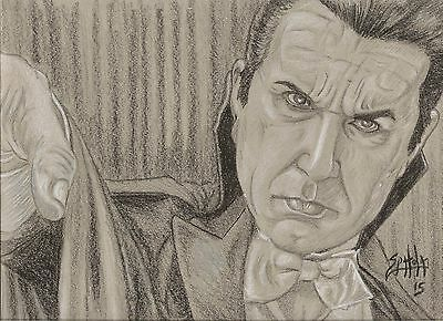 Bela Lugosi as Dracula From a Mike Hill Sculpture Original Art by Spatola
