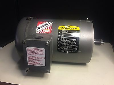 New Baldor Electric Motor VM3546T-5 1HP 575 Volts 1.1 Amps 1725 RPM 3 Phase 60Hz
