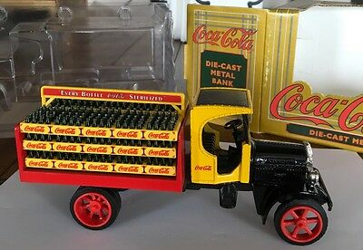Coca Cola Die-cast Metal Coin Bank Delivery Truck