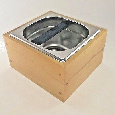 RöstHaus Knock Box - Maple and stainless - Handmade