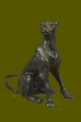 Hand Made by Lost Wax Method Cougar Jaguar Vienna Bronze Sculpture by Bugatti