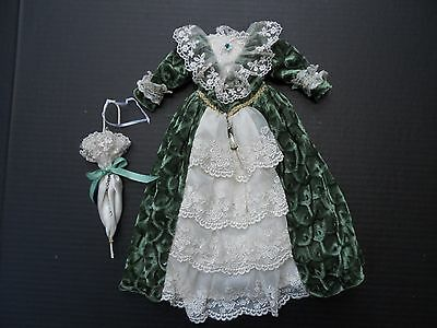 DRESS, PARASOL 4  ANTIQUE REPRODUCTION, FRENCH FASHION, VICTORIAN or ARTIST DOLL