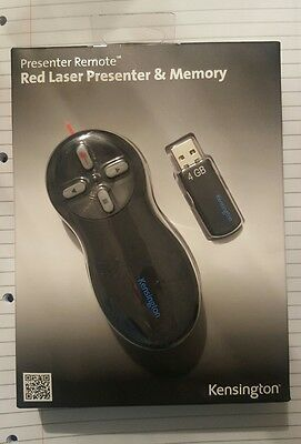 Brand New Kensington Red Laser Presenter with 4GB Memory USB