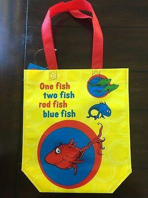Dr Seuss Book Gift Party Favor Treat Re Usable Bag Tote Cat In The Hat