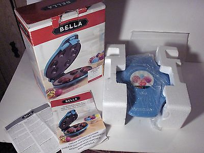 Bella Cake Top and Donut Hole Maker In Box w/Instructions, Recipes, Fun Baking