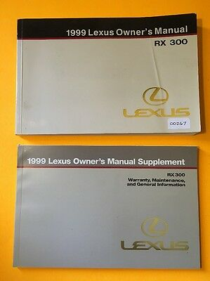 1999 Lexus RX300 Owners manual, 2 Book Set