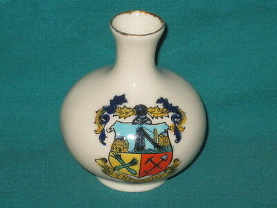 Weir Arms China Vase - TREORCHY crest