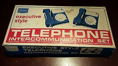 1974 Vintage Sears Executive Style Toy Telephone Set - Great Condition