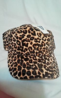 Old Navy One Size Taille Unique Cheetah Brown Animal Print Cap Hat New w/ Tag