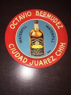 Old Waterfill Bourbon Whiskey Advertising Tip Tray - Octavio Bermudez