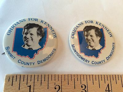 Ohioans for Ted Kennedy 1980 - Summit County/Montgomery Counties - pin backs