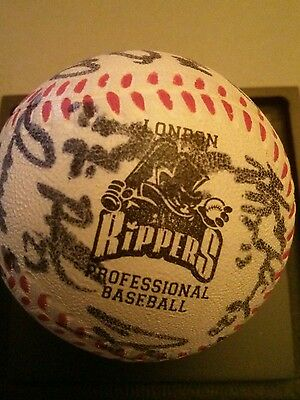 London Rippers autographed Novelty baseball  Frontier League MLB