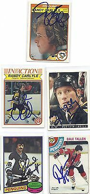 1978 OPC #146 Dale Tallon Pittsburgh Penguins Signed Autographed Card