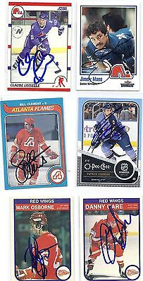 1982 OPC #83 Danny Gare Detroit Red WIngs Signed Autographed Card